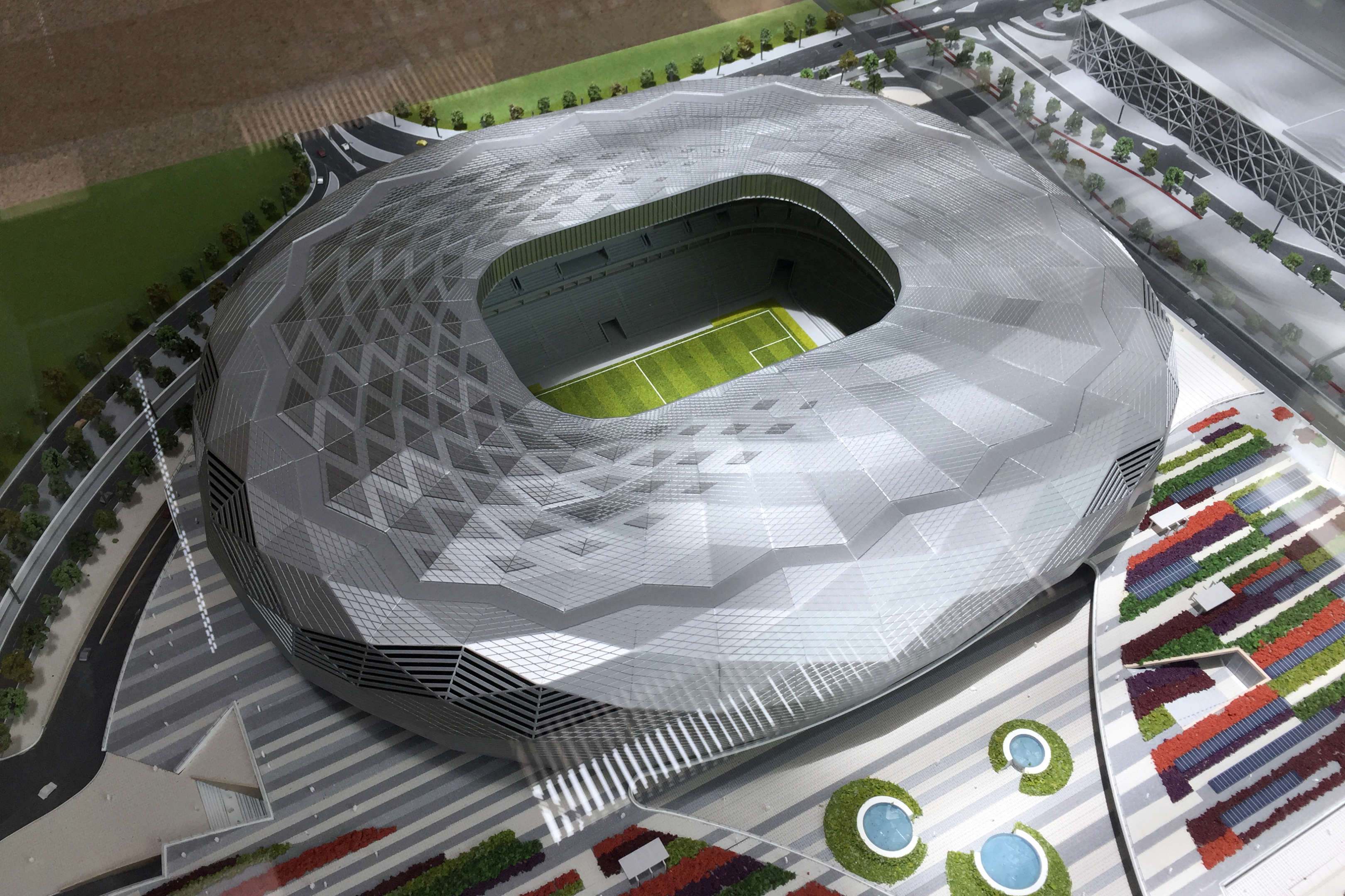 SmartPVSkins are revolutionary for large-scale, non-planar surfaces such as sports stadiums.